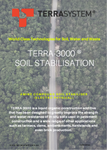 TERRA-3000 SOIL STABILISATION BROCHURE 2019